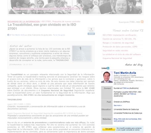 Widget Linkedin en tu web
